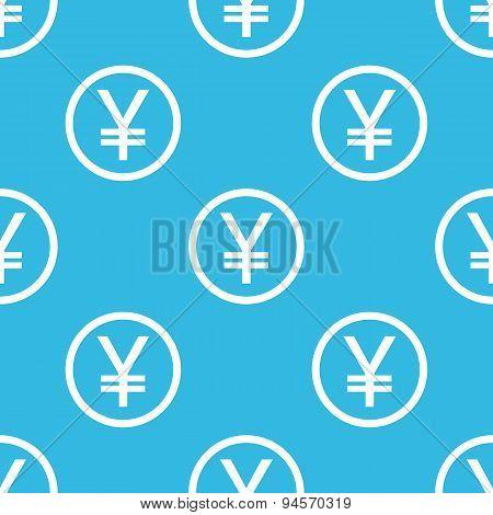 Yen sign blue pattern