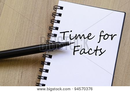Time For Facts Text Concept