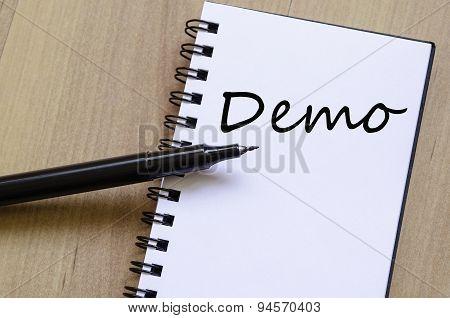 Demo Text Concept