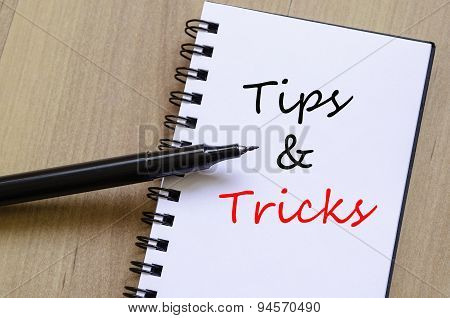 Tips And Tricks Concept Notepad