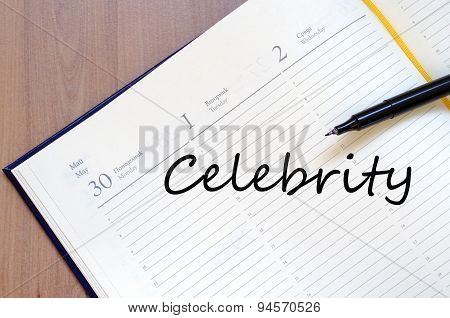 Celebrity Concept Notepad