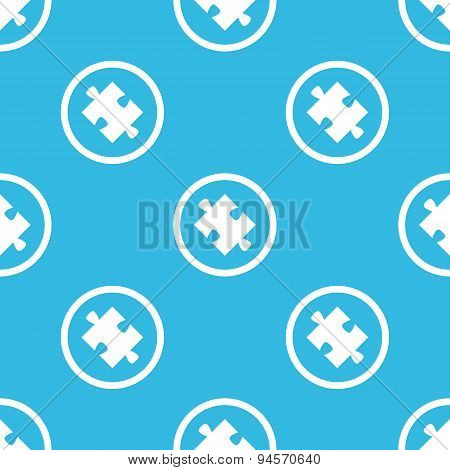 Puzzle sign blue pattern