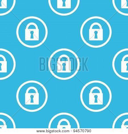 Locked sign blue pattern