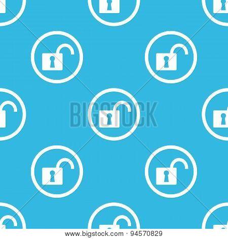 Unlocked sign blue pattern