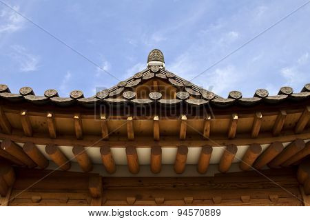 Traditional Korean Style Architecture At Hanok Village , South Korea.