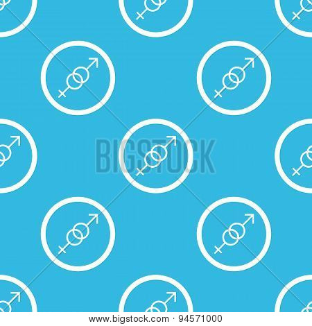 Gender sign blue pattern