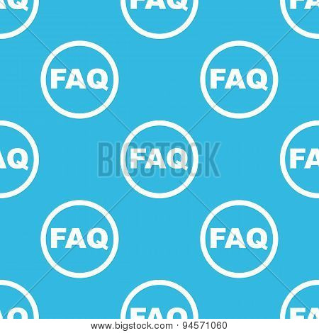 FAQ sign blue pattern