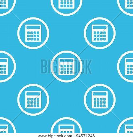 Calculator sign blue pattern