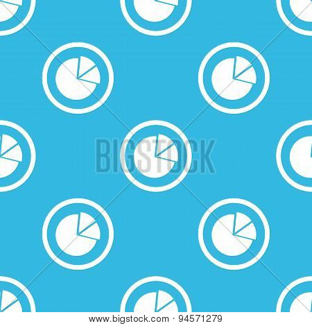 Diagram sign blue pattern