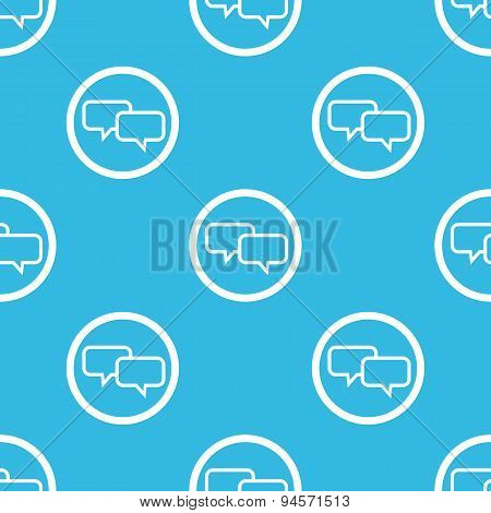 Chat sign blue pattern