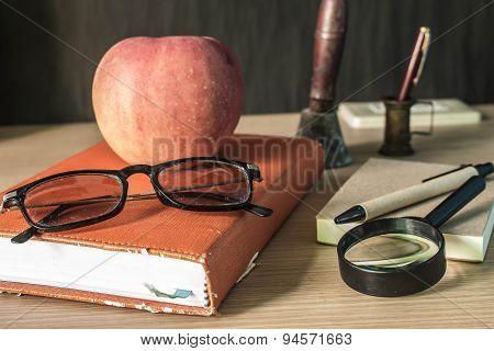 Stationery On The Desk..