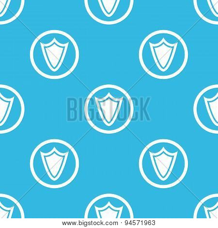 Shield sign blue pattern