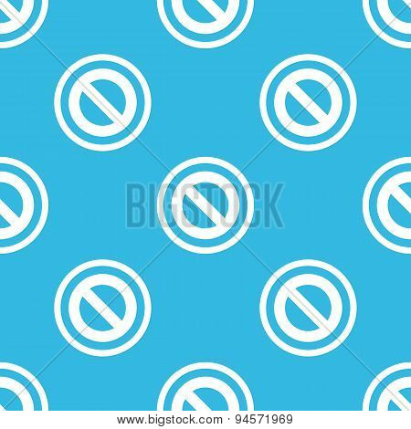 NO sign blue pattern