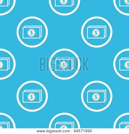 Dollar bill sign blue pattern
