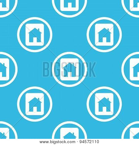 House plate sign blue pattern