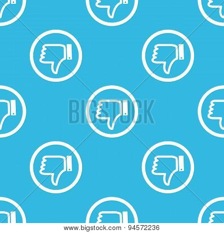 Dislike sign blue pattern