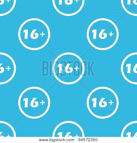 Age restriction sign blue pattern
