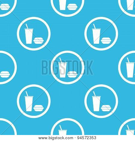 Fast food sign blue pattern