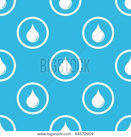 Water drop sign blue pattern