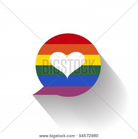 Lgbt love icon