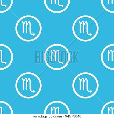 Scorpio sign blue pattern