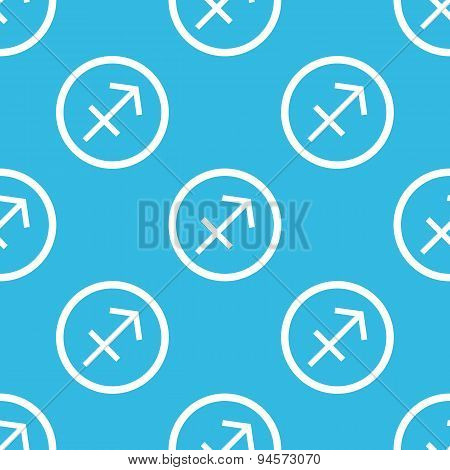 Sagittarius sign blue pattern