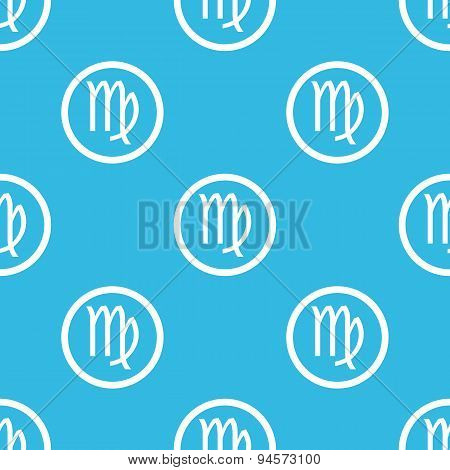 Virgo sign blue pattern