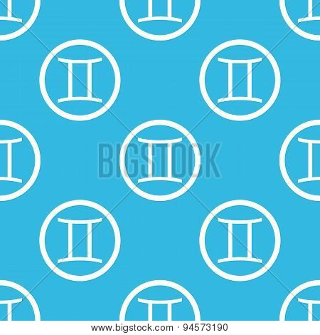 Gemini sign blue pattern