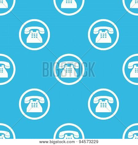 Phone sign blue pattern