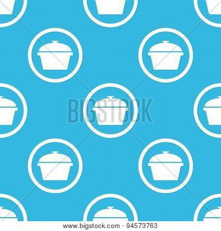 Pan sign blue pattern