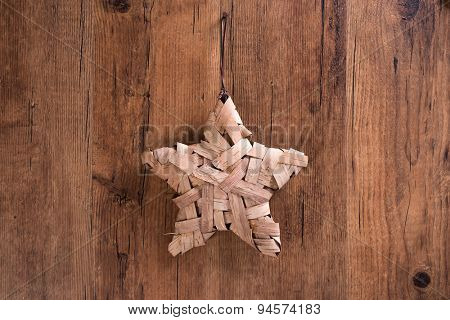 Christmas decoration handmade star-shaped