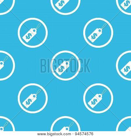 Dollar price sign blue pattern