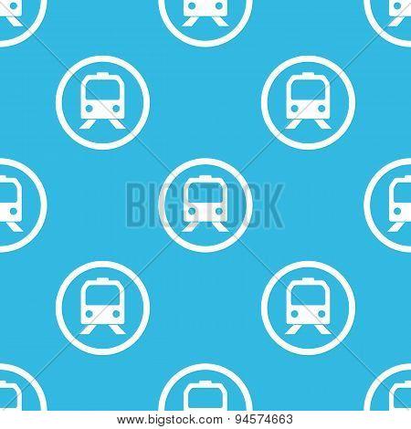 Train sign blue pattern