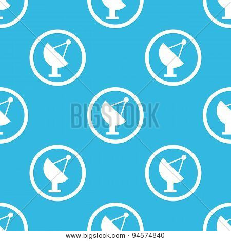 Satellite dish sign blue pattern