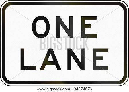 One Lane In Australia