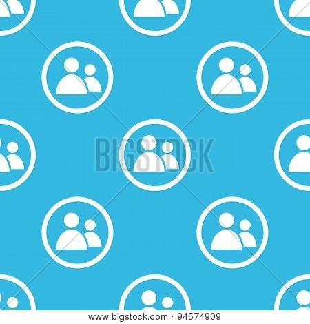 Contacts sign blue pattern