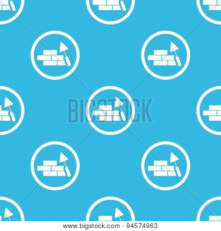 Building wall sign blue pattern