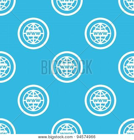 Global network sign blue pattern