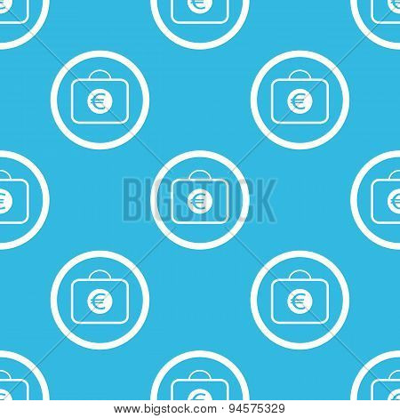 Euro bag sign blue pattern