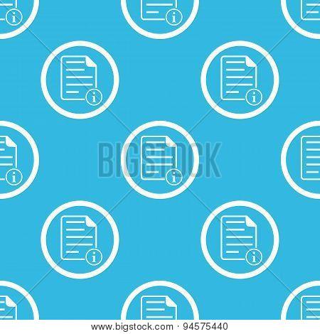Information document sign blue pattern