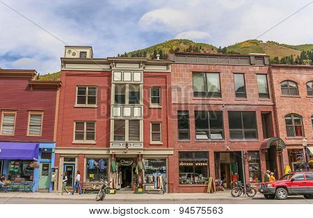 Telluride Main Street Shops In Colorado