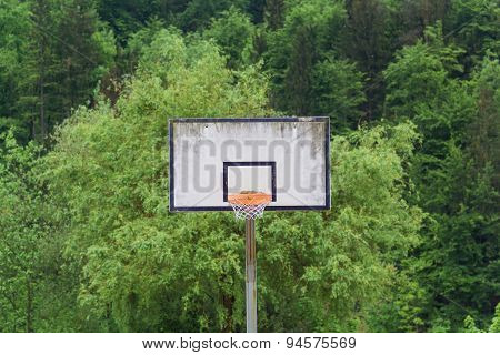 Basketball backboard.