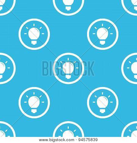 Light bulb sign blue pattern