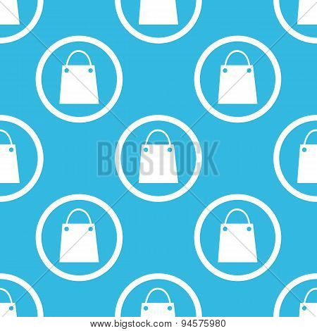 Shopping bag sign blue pattern