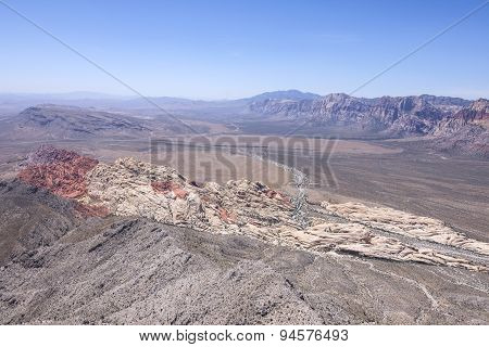 Red Rock Canyon, Nevada Scenic High Angle View
