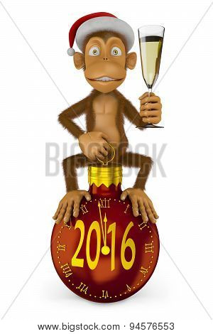 Funny New Year Monkey