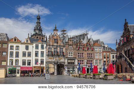 Central Market Square In Nijmegen
