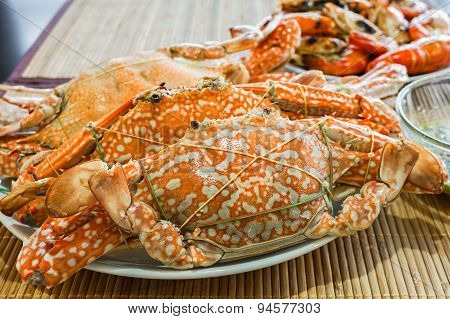 Fresh Steamed Crab Ready To Serve