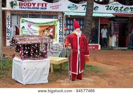 Santa Claus On The Beach In Kovalam