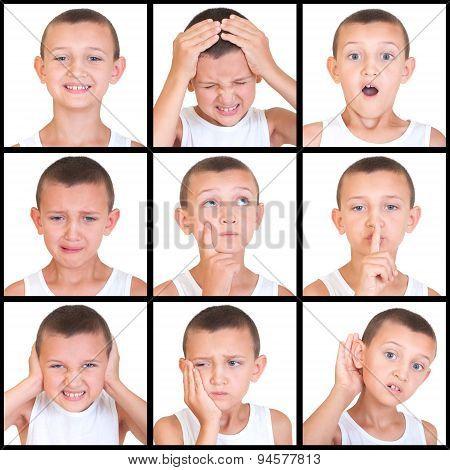 set of emotions child